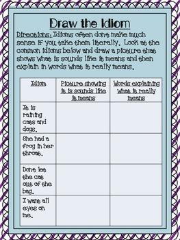Idiom Practice Activities