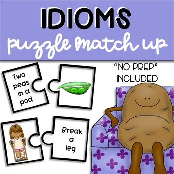 Idiom Puzzle Match Up: Speech and Language Therapy