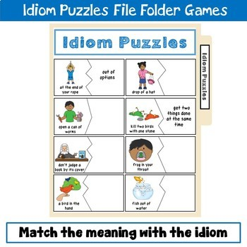 Idiom Puzzles File Folder Game
