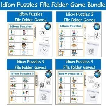 Money file folder games teaching resources teachers pay teachers idiom puzzles file folder game bundle idiom puzzles file folder game bundle fandeluxe Gallery