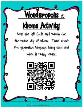 Idiom QR Code Activity