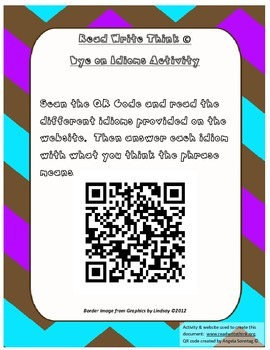 Idiom QR Code with Read Write Think