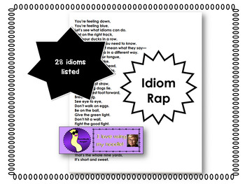 Idiom Rap Great for National Poetry Month