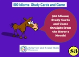 500 Idioms- Study Cards- Card Games- Figurative Language
