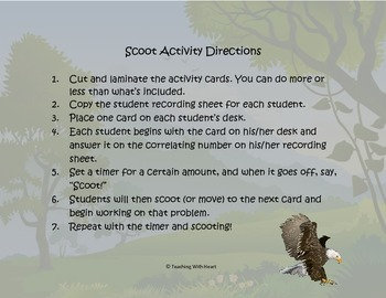 Idiom Scoot Activity/Task Cards