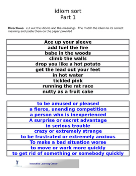 Idiom Sort 1