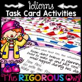 Idiom Task Card Activity Bundle