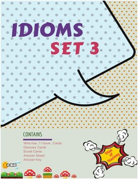 Idiom Task Cards (36 Cards) x 3 Set 3