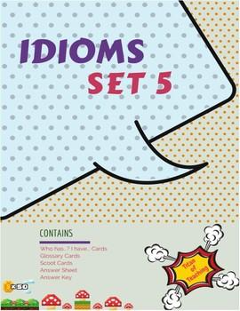 Idiom Task Cards (36 Cards) x 3 Set 5