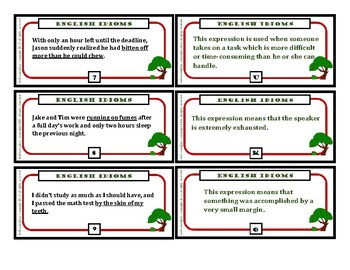 Idioms Task Cards