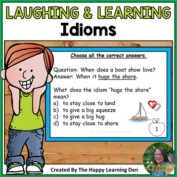 Idiom Task Cards and Jokes