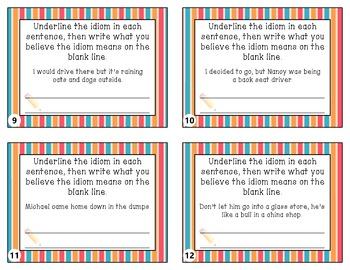 Idioms Taskcards