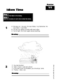 Idiom Time Worksheets