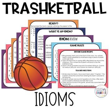 Idiom Trashketball Review Game