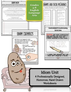 (Dollar Packet Sale) Idiom Unit Aligned to the Common Core