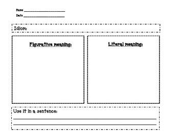 Idiom Worksheet