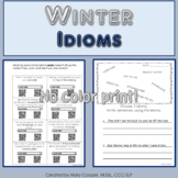 Idiom Worksheets for Winter