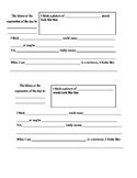 Idiom and Expression Worksheet