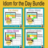 Idiom for the Day Bundle, Idiom Graphic Organizers, Idiom