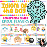 Idiom of the Day Emoji Brain Teasers 24 PUZZLERS 4th Grade - 6th Grade
