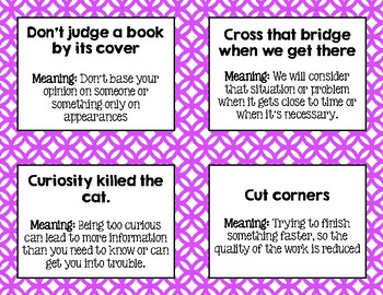 Idiom of the Day or Week - YOUR CHOICE! Printable!