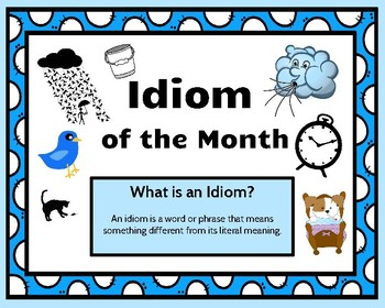 Idiom of the Month Poster Collection