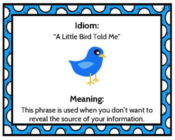 Idiom of the Month Poster Collection **FREE!!**