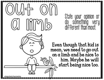 Idiom of the Week [REVISED] Color/B/w AND Response Sheets!