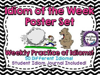Idiom of the Week: 50 Posters & Student Journal (Chevron)