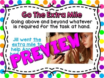 Idiom of the Week: 50 Posters & Student Journal (Polka Dot)