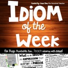 Idioms of the Week; A School Year of Idioms!