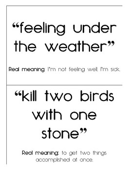 Idiom of the Week Cards