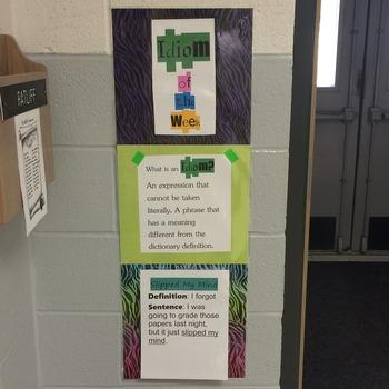 Idiom of the Week - Cute & Editable!