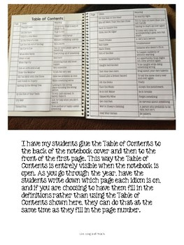 Idiom of the Week Interactive Notebook {Growing}