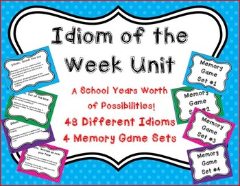 Idiom of the Week Posters and Memory Game Set