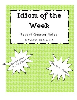 Idiom of the Week Quarter 2 Pack