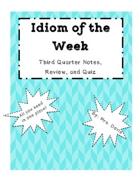 Idiom of the Week Quarter 3 Pack