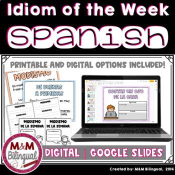 Idiom of the Week - SPANISH {Modismo de la semana}