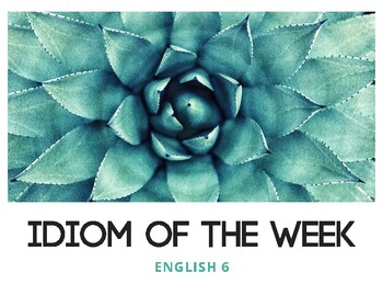 Idiom of the Week (Succulent 1)