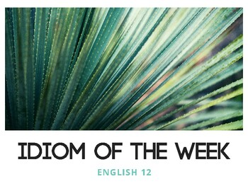 Idiom of the Week (Succulent 2)