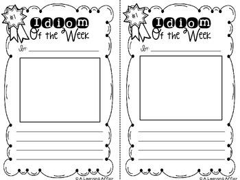 Idiom of the Week Templates FREEBIE