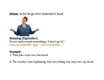 Idiom: over someone's head