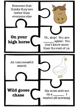 Idiom puzzles (free)