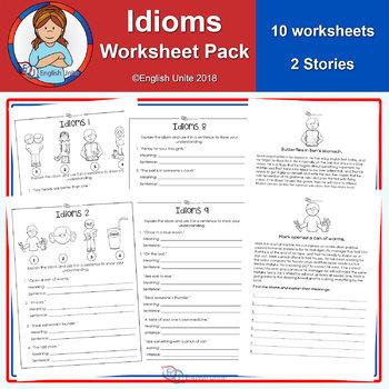Idiom worksheets - 12 pack