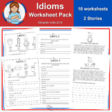 Idiom worksheets - 12 pack