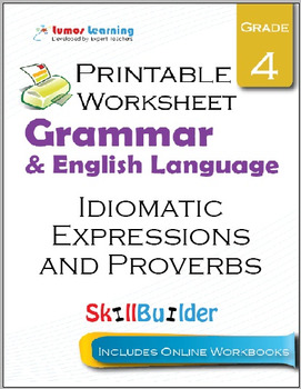 Idiomatic Expressions and Proverbs Printable Worksheet, Grade 4