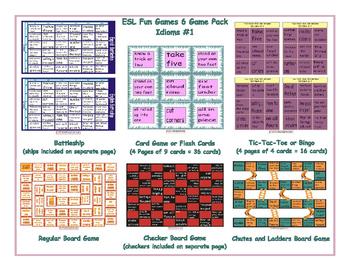 Idioms #1 6 Board Game Bundle