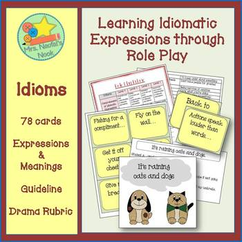 Idioms Word Work - Learning Expressions Through Role Play
