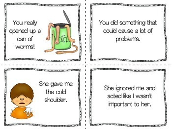 Idioms Worksheet Matching | Idioms with Pictures | Idiomatic Expressions