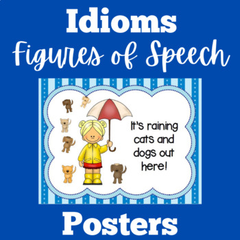 Idioms Anchor Charts | Idioms Posters | Idiomatic Expressions